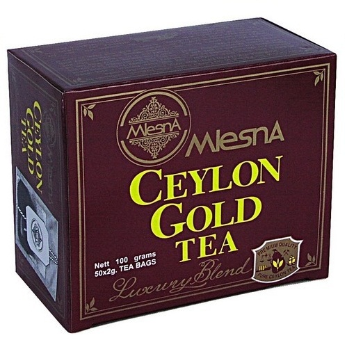 Чай Mlesna Ceylon Gold Цейлонское Золото, пакетированный, 50 x 2 г
