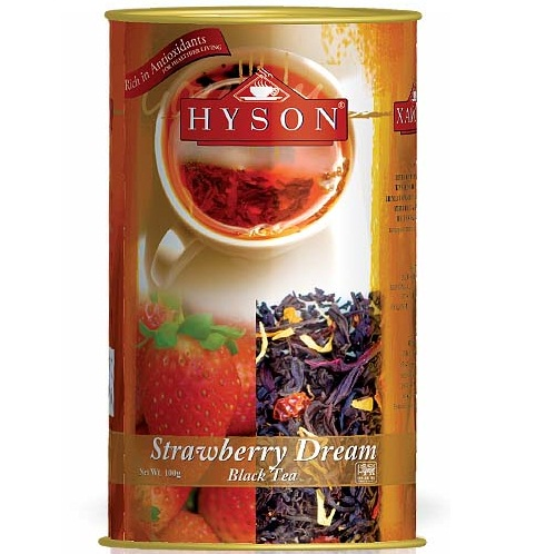 Чай Hyson Strawberry dream Клубника, цейлонский, 100 г