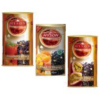 Чай Hyson OPA Black Teas Collection (Клубника, Персик, Маракуйя) цейлонский, 3 x 100 г, 300 г