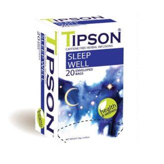 Чай Tipson Sleep Well (Спокойной ночи), цейлонский, пакетированный, 20 х 1,3 г, 26 г