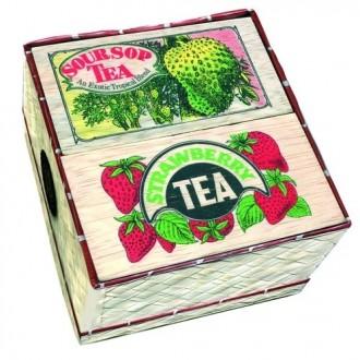 Чай Mlesna 2 Flavour Mat Basket 2 вкуса Клубника, Саусеп, цейлонский, черный, ароматизированный, 2 х 50 г