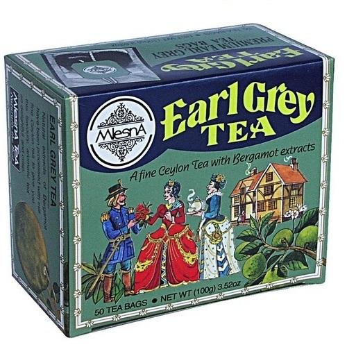 Чай Mlesna Earl Grey Граф Грей, пакетированный, в индивидуальных конвертах, 50 х 2 г