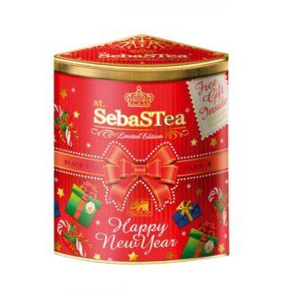 Чай Unitea SebaSTea Happy New Year FBOP (С Новым годом и Рождеством !), черный, цейлонский, 150 г