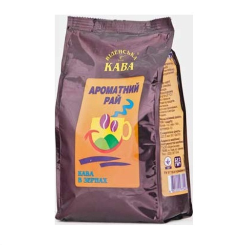 Кофе Віденська кава Шоколад, Арабика в зернах, 500 г