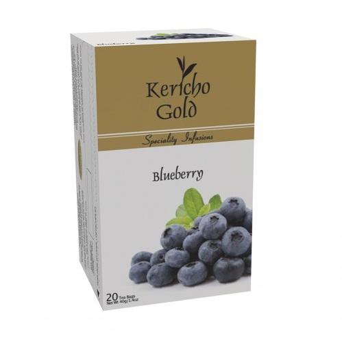 Чай Kericho Gold Blueberry Черника, кенийский, пакетированный, 20 х 2 г