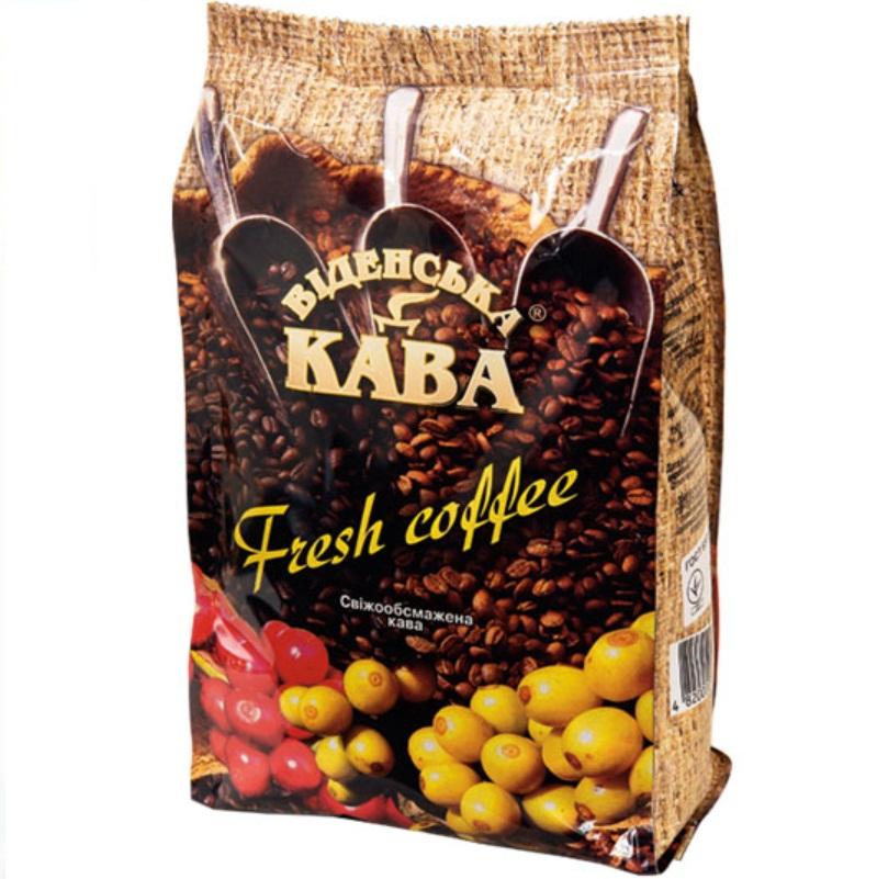 Кофе Віденська кава Fresh Coffe Фреш кофе, Арабика в зернах, 500 г