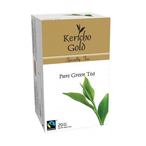 Чай Kericho Gold Green Tea Зеленый чай, кенийский, пакетированный, 20 х 2 г