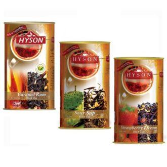 Чай Hyson OPA Teas Collection (Карамель Ром, Саусеп, Клубника) цейлонский, 3 x 100 г, 300 г