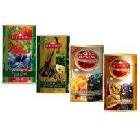 Чай Hyson OPA Teas Collection (Лесные ягоды, Саусеп, Персик, Плод Страсти) цейлонский, 4 x 100 г, 400 г