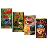 Чай Hyson OPA Teas Collection Лесные ягоды, Саусеп, Персик, 1001 ночь, цейлонский, 4 x 100 г, 400 г