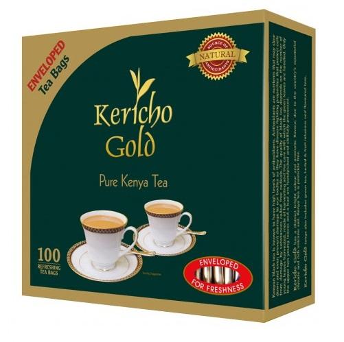 Чай Kericho Gold 100 Envelope Золото Керичо, кенийский, пакетированный, 100 х 2 г