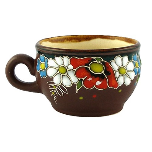 Керамическая кофейная чашка Полянка, емкость 120 мл