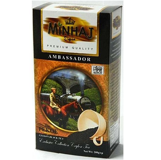 Чай Minhaj Ambassador Pekoe Амбассадор, Пекое, цейлонский, 200 г
