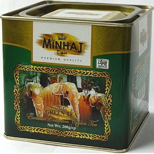 Чай Minhaj Super Gunpowder Green Tea Супер Ганпаудер, цейлонский, 200 г