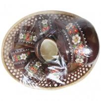 Керамический чайный набор Ромашка - Вишня на четыре персоны