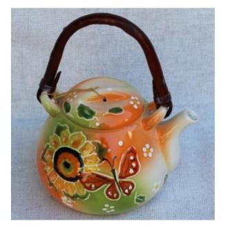 Керамический чайник Літо с колбой для заварки, емкость 300 мл