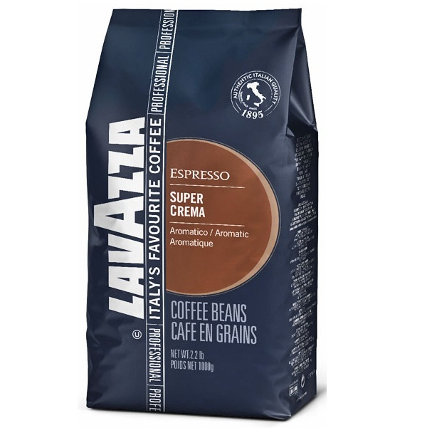 Кофе Lavazza Super Crema - Арабика, Робуста, в зернах, 1000 г