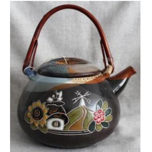 Керамический чайник Український с колбой для заварки, емкость 800 мл
