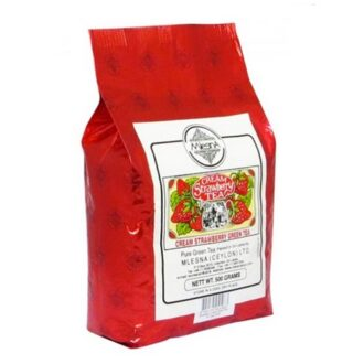 Чай Mlesna Cream Strawberry Green Tea (Клубника со сливками), цейлонский, 500 г