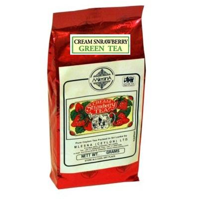 Чай Mlesna Cream Strawberry Green Клубника со сливками, цейлонский