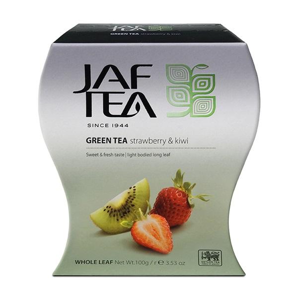 Чай JAF Strawberry Kiwi Green Tea Клубника и киви, цейлонский, 100 г
