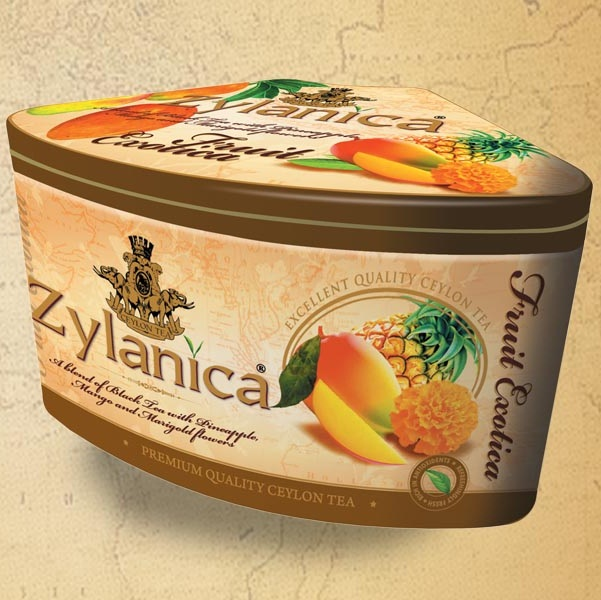 Чай Zylanica Fruit Exotica Pineapple Mango Ананас, манго, цейлонский, 100 г