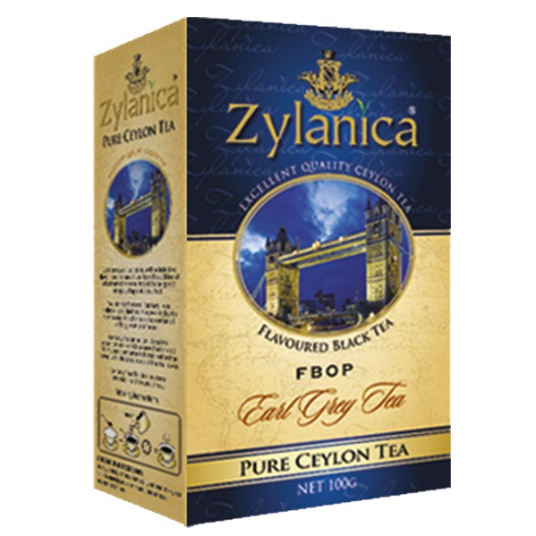 Чай Zylanica Earl Grey FBOP Бергамот, цейлонский, 100 г