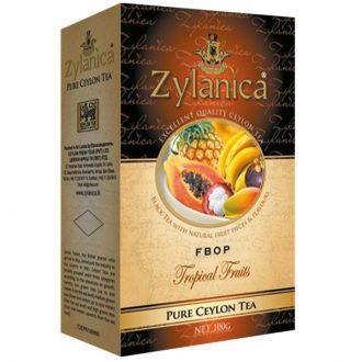 Чай Zylanica Tropical Fruits Black Tea FBOP Тропические фрукты, цейлонский, 100 г