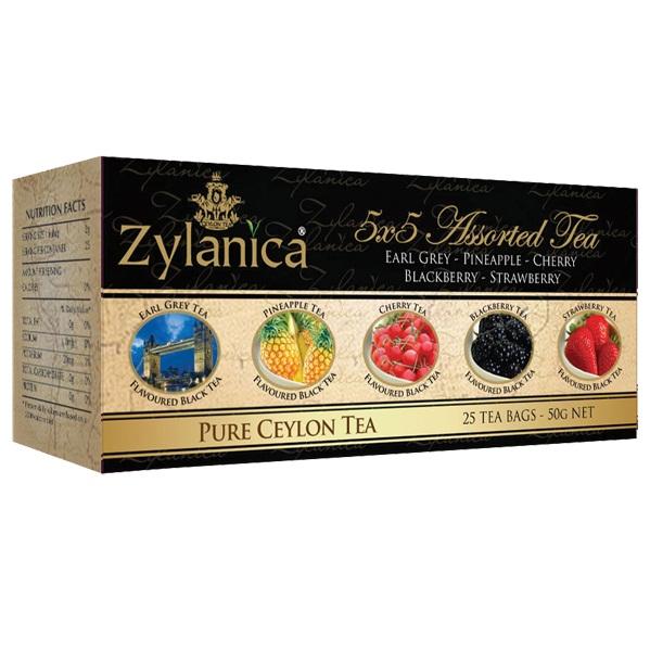 Чай Zylanica 5x5 Assorted Tea Пять вкусов, цейлонский, 5х5 по 2 г