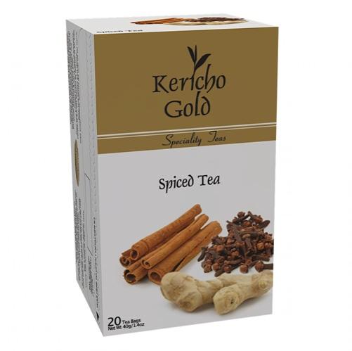 Чай Kericho Gold Spiced Tea Спайс, кенийский, пакетированный, 20 х 2 г