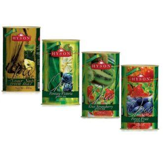 Чай Hyson Green Collection Саусеп, Фантазия Виктории, Киви и Клубника, Лесные ягоды, цейлонский, 4 x 100 г