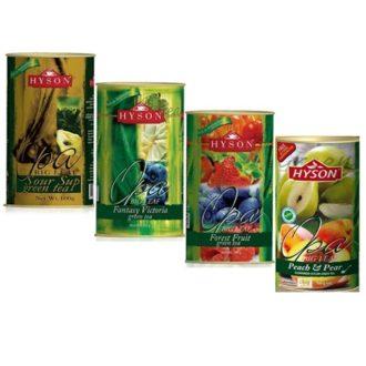 Чай Hyson Green Collection Саусеп, Фантазия Виктории, Лесные ягоды, Персик Груша, цейлонский, 4 x 100 г, 400 г