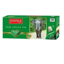 Чай Impra Strong Black Tea Green (Крепкий, зеленая серия), цейлонский, пакетированный, 25х1.8 г, 45 г