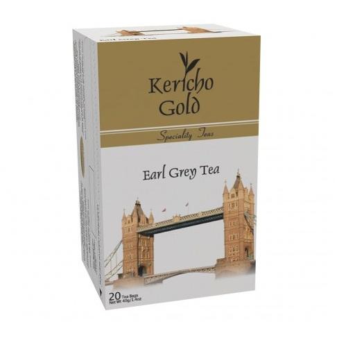 Чай Kericho Gold Earl Grey Ерл Грей, кенийский, пакетированный, 20 х 2 г