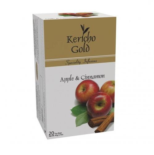 Чай Kericho Apple, Cinnamon Яблоко с корицей, кенийский, пакетированный, 20 х 2 г