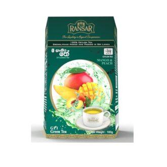Чай Ransar Mango Peach Green Tea (Манго Персик), цейлонский, 100 г