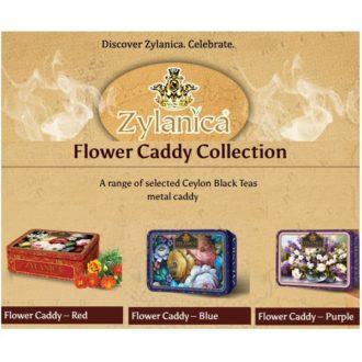 Чай Zylanica Flower Caddy (Цветочная шкатулка), цейлонский, 3x100 г, 300 г