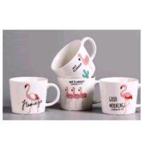 Керамическая чайная чашка Фламинго, в ассортименте, в подарочной коробке, 300 мл