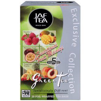 Чай JAF Sensational Green Fruit Melange Ассорти, цейлонский, пакетированный, 20 х 2 г