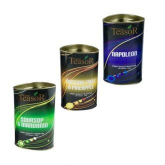 Чай Teasor Collection 1, с кусочками фруктов, цейлонский, 3x100 г, 300 г