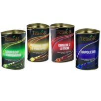 Чай Teasor Collection, с кусочками фруктов, цейлонский, 4x100 г