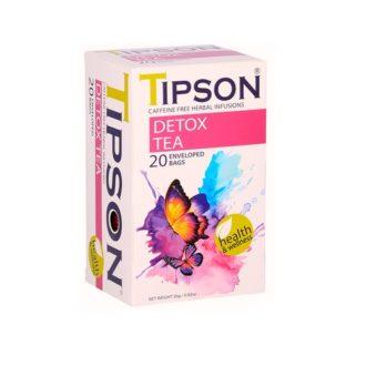 Чай Tipson Detox (Детокс), цейлонский, пакетированный, 20 х 1,3 г, 26 г