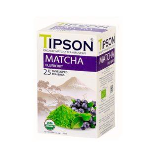 Чай Tipson Matcha Blueberry (Матча с черникой), цейлонский, пакетированный, 25 х 1,5 г, 37,5 г