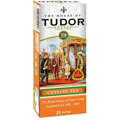 Чай Tudor Ceylon Tea Bags Тюдор, Цейлонский, пакетированный, 25 х 2 г