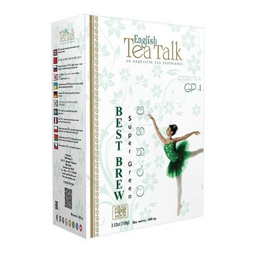 Чай English TeaTalk Green GP1 Ганпаудер, цейлонский, 100 г
