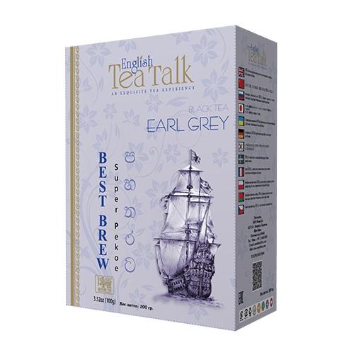 Чай English TeaTalk Earl Grey Pekoe Ерл Грей, цейлонский, 100 г