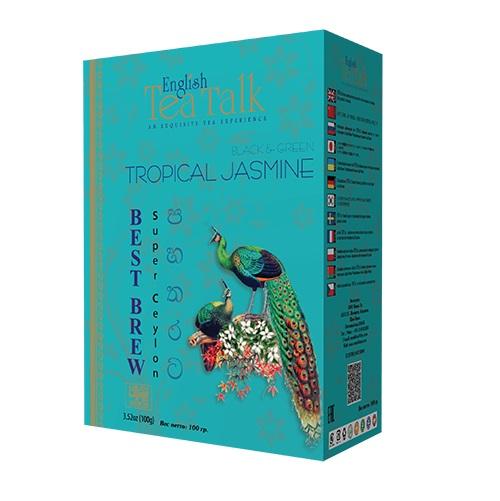 Чай English TeaTalk Tropical Jasmine Pekoe + GP1 Жасмин, цейлонский, 100 г