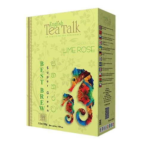 Чай English TeaTalk Lime Rose GP1 Лайм, роза, цейлонский, 100 г