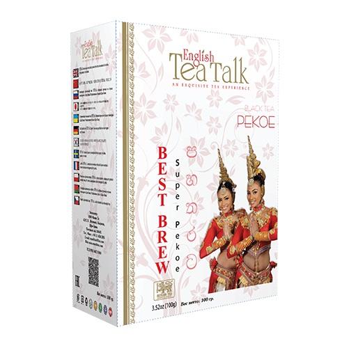 Чай English TeaTalk Pekoe Пекое, цейлонский, 100 г