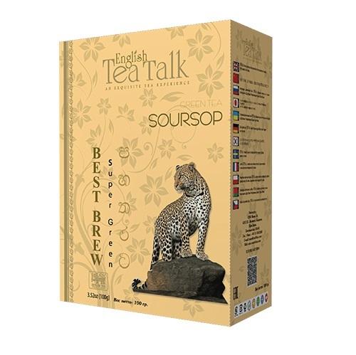 Чай English TeaTalk Soursop Green GP1 Саусеп, цейлонский, 100 г